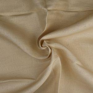 Plain 14s Linen Fabric 16 Sand 138cm - £6.50 per metre