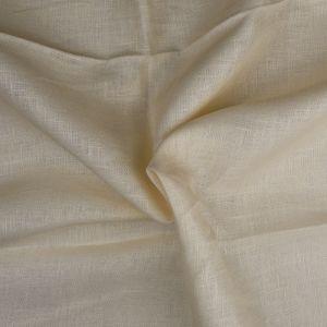 Plain 14s Linen Fabric 03 Cream 138cm - £6.50 per metre