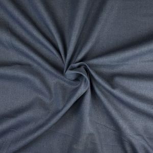 Plain Cotton Linen Fabric  27 Navy 135cm - £2.99 per metre