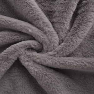 Bunny Luxe Fur Fabric 92 Silver Grey 160cm - £5.50 per metre
