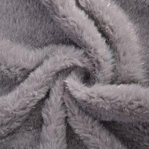 Flash Fur Fabric 5 Silver 160cm - £4.99 per metre