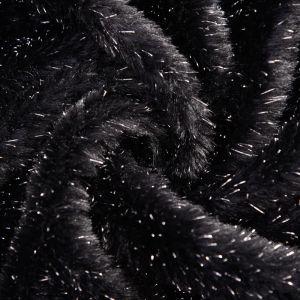 Flash Fur Fabric 8 Black 160cm - £4.99 per metre